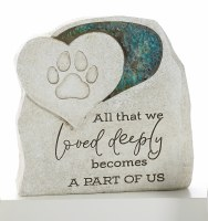 """6"""" All That We Loved Mosaic Glass Pet Memorial Garden Stone"""