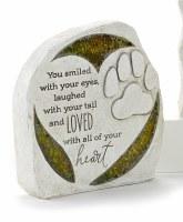 "6"" You Smiled Mosaic Glass Pet Memorial Garden Stone"