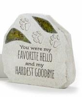 "6"" You Were My Favorite Mosaic Glass Pet Memorial Garden Stone"