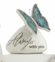 """6"""" Always With You Butterfly Mosaic Memorial Garden Stone"""
