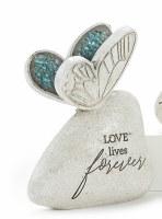 "6"" Love Lives Forever Butterfly Mosaic Memorial Garden Stone"