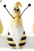"""8"""" Yellow and Black Bee Hat Bee Gnome"""