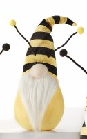 """8"""" Yellow and Black Striped Hat Bee Gnome"""