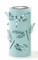 "8"" Solar LED Blue Metal Dragonfly Lantern"