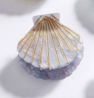 """2"""" Blue Shell Clam Claw Hair Clip By Charlie Paige"""