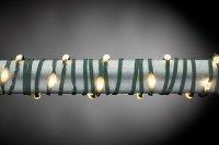 50' Connectable Micro LED Warm White 150 Light String With Green Wire