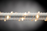 50' Connectable Micro LED Warm White 150 Light String With Silver Wire