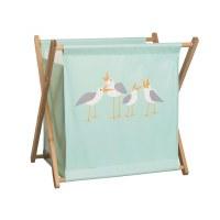 """24"""" x 25"""" Mint Seagulls Clothes Hamper"""