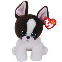"8"" TY Beanie Boo Portia the Black & White Terrier"