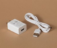 "47"" White USB Cord With UL Adaptor"