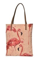 """15"""" Flamingo Canvas and Leather Book Bag"""