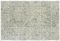 3.6' x 5.6' Gray and Ivory Geo Tallavera Rug 55605
