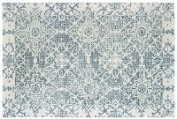 3.6' x 5.6' Blue and Ivory Tallavera Rug 55603