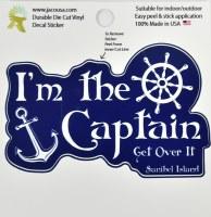 "4"" I'm The Captain Sanibel Island Sticker"