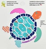 "4"" Sanibel Island Southern Patter Turtle Sticker"