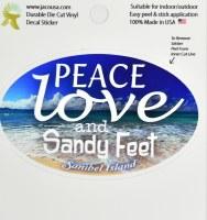 "4"" Sanibel Island Sandy Feet Beach Sticker"