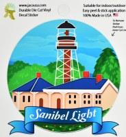 """4"""" Sanibel Light Sticker"""
