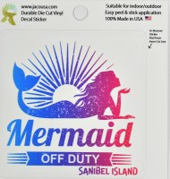 "4"" Mermaid Off Duty Sanibel Island Sticker"