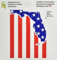 """4"""" USA Flag Florida Sticker"""