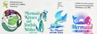 "Set of 4 2"" Sanibel Island Mermaid Stickers"
