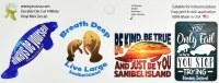 "Set of 4 2"" Sanibel Island Manatee Stickers"