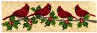 """9"""" x 28"""" Winter Cardinals Natural Coir Kensington Doormat"""