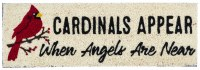 "9"" x 28"" Cardinals and Angels Natural Coir Kensington Doormat"