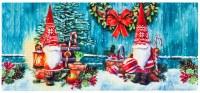 "10"" X 22"" North Pole Santa Gnomes Sassafras Doormat"