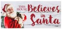 "10"" x 22"" This House Believes in Santa Sassafras Doormat"
