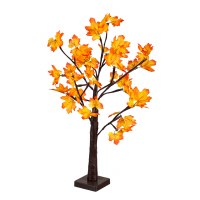 """24"""" Fall LED Maple Tree with 24 Lights Table"""