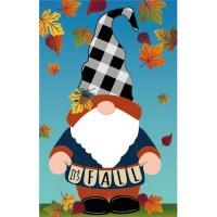 """18"""" x 12"""" Mini Its Fall Gnome Flag"""