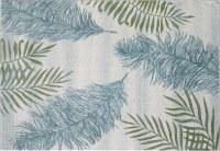 5.3' x 7.7' Ivory and Green Fauna Stella 6267 Rug
