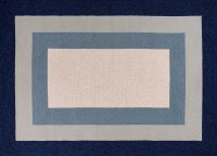 3' x 5' Slate and Navy Highview Libby Langdon Hamptons 5229 Rug