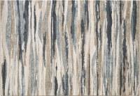 5.3' x 7.7' Ivory and Blue Avalon Landscapes 5620 Rug