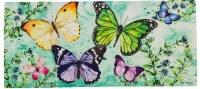 "10"" x 22"" Multicolor Spring Butterfly Friends Sassafras Doormat"