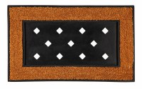 "18"" x 30""  Natural Coir With Black Edging Sassafras Doormat Tray"