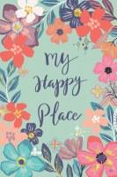 "18"" x 13"" My Happy Place Flower Hour Textured Suede Garden Flag"