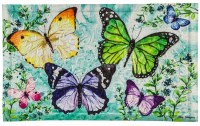 "18"" x 30"" Multicolor Butterfly Friends Embossed Doormat"
