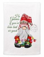"""22"""" x 17"""" Bad or Good Christmas Lights Gnome Huck Kitchen Towel"""