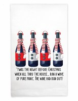"""22"""" x 17"""" 'Twas the Night Before Christmas Huck Kitchen Towel"""