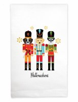 "22"" x 17"" Multicolor Muttcrackers Huck Kitchen Towel"