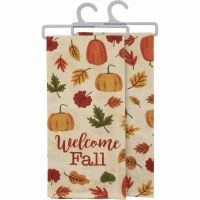"""28"""" Welcome Fall Kitchen Towel"""