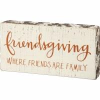 "3"" x 6"" Friendsgiving Where Friends are Family Plaque"