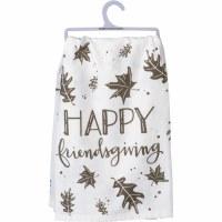 "28"" Square Happy Friendsgiving Kitchen Towel"