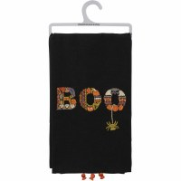 """26"""" x 20"""" Embroidered Boo Kitchen Towel"""
