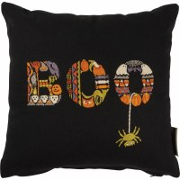 """12"""" Square Embroidered Boo Pillow"""