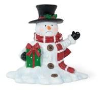 "5"" White Polyresin Mr. Vanderfrost Melting Snowman"