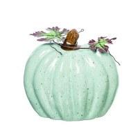 """6"""" Mint Ceramic Heirlooim Pumpkin"""