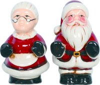 """5"""" Mr. and Mrs. Claus Salt & Pepper Shakers"""