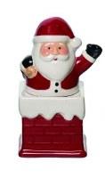 "5"" Red Santa in Chimney Salt & Pepper Shakers"